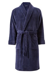 John Lewis Sheared Fleece Robe Navy