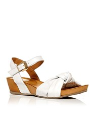 Moda In Pelle Phebe Low Wedge Two Part Sandals White