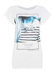 Salsa Jamica Short Sleeve Printed Front Tee White