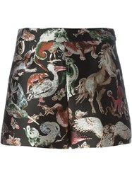Valentino Animal Brocade Shorts Multicolour