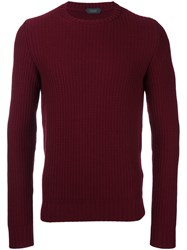 Zanone Crew Neck Jumper Red