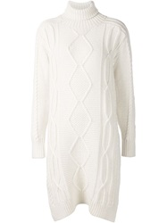 Derek Lam 10 Crosby Oversized Cable Knit Sweater White