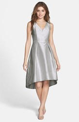 Women's Alfred Sung Satin High Low Fit And Flare Dress Online Only