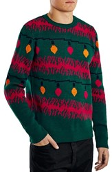 Men's Topman Holiday Light Strand Jacquard Crewneck Sweater