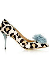 Charlotte Olympia Desiree Leopard Print Calf Hair Pumps Leopard Print