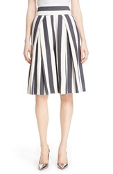 Women's Milly Pleated Stripe Culottes Navy