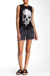 The Kooples Faded Lace Up Short Gray