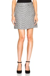 A.P.C. Gingham Mini Skirt In Blue Checkered And Plaid
