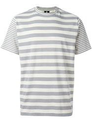 Paul Smith Ps By Striped T Shirt Grey