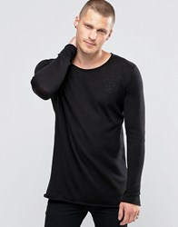 Sik Silk Siksilk Jumper With Raw Edges Black