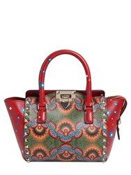 Valentino Rockstud Volcano Printed Leather Bag