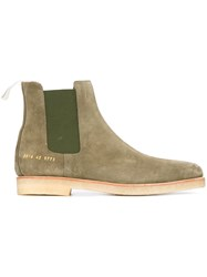 Common Projects Classic Chelsea Boots Green