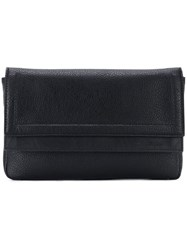 Salvatore Ferragamo Foldover Clutch Black