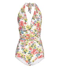 Dolce And Gabbana Printed Swimsuit Multicoloured