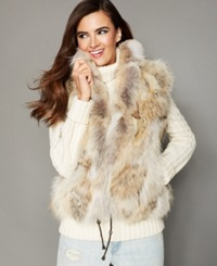 The Fur Vault Natural Coyote Fur Vest Multi