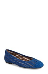 French Sole Women's 'Quartz' Flat Cobalt Blue Leather
