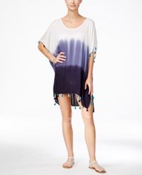 Raviya Dip Dye Ombre Tunic Cover Up Women's Swimsuit Navy