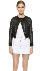 Dsquared Leather Jacket Black