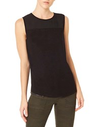 Sanctuary Solid Shell Top Black