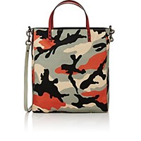 Valentino Men's Leather Trimmed Tote Grey