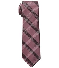 Dkny Suiting Plaid Rosewood Ties Red