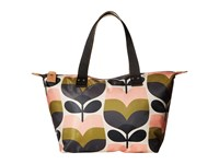 Orla Kiely Stripe Rosebud Small Zip Shopper Multi Handbags