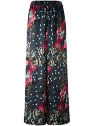 Antonio Marras Floral Palazzo Pants Grey