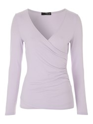 Jane Norman Long Sleeve Essential Wrap Jersey Lilac