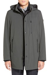 Tumi 'Tech Stretch' 3 In 1 Hooded Jacket With Removable Liner Dark Moss