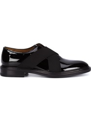 Givenchy Cross Strap Loafers Black