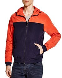 Michael Kors Sueded Color Block Bomber Jacket