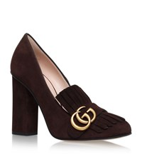 Gucci Marmont Fringed Loafer Heels 105 Unisex