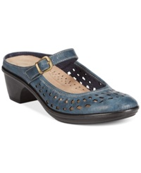 Easy Street Shoes Easy Street Chicago Clogs Women's Shoes Blue Denim