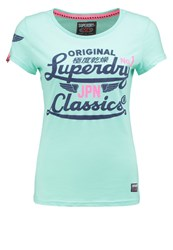 Superdry Icarus Print Tshirt Ice Green Marl Mint