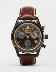 Vivienne Westwood Sotherby Leather Watch Vv142brbr Brown