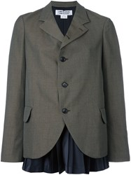 Comme Des Garcons Three Button Blazer Green