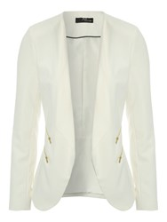 Jane Norman Zip Detail Blazer White