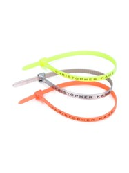 Christopher Kane Cable Tie Bracelets Multicolour