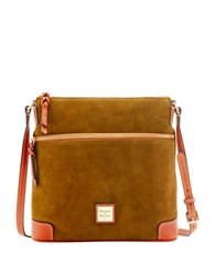 Dooney And Bourke Suede Crossbody Bag Olive