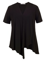 Chesca Asymmetric Layered Jersey Top Black