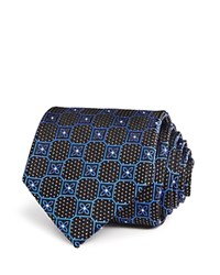 Bloomingdale's The Men's Store At Open Diamond Medallion Classic Tie Navy