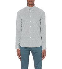 Paul Smith Heart Print Tailored Fit Cotton Shirt Navy