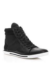 Kenneth Cole Up Side Down High Top Sneakers Black