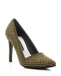 Alice Olivia Dame Studded Pumps Moss