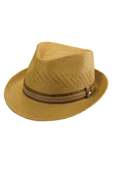 Tommy Bahama Perforated Panama Straw Fedora Putty