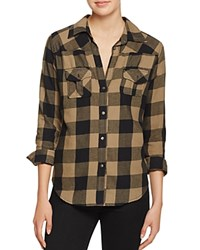 Signorelli Plaid Button Down Shirt Black Olive
