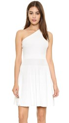 Milly One Shoulder Dress White