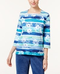 Alfred Dunner Adirondack Trail Striped Top Multi