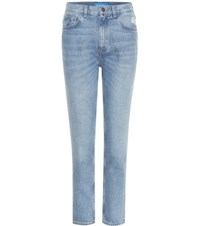 Mih Jeans Mimi Distressed High Rise Slim Blue