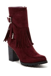 Bucco Jaxsyn Fringe Boot Red